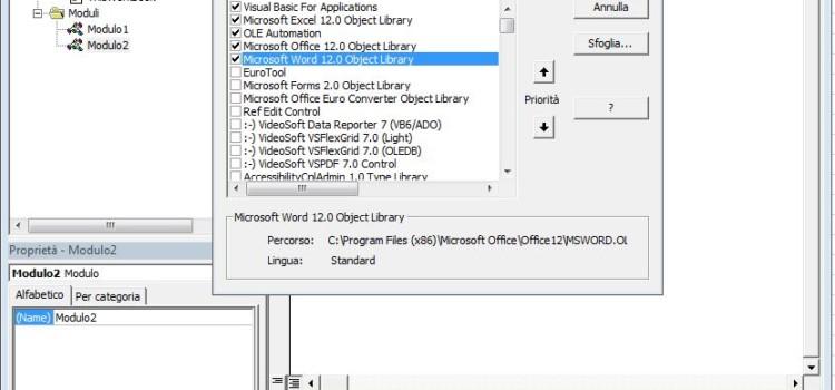 Trasferire dati da foglio Excel in una tabella di Word