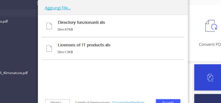 Come convertire file Word / Excel (anche con più fogli) in PDF