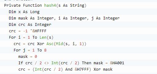 Convertire una stringa in codice hash4