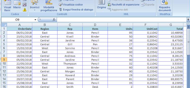 Excel e ADO: scrittura/lettura dati da tabelle Excel